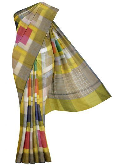 Kathana Fancy Mercerized Cotton Saree - MKB9153432