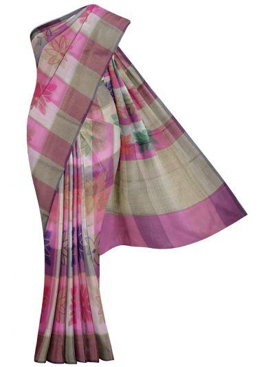 Kathana Fancy Mercerized Cotton Saree - MKB9153433