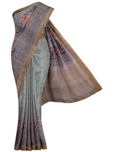 Nadhira Exclusive Embroidered Semi Jute Saree - MKD0007284