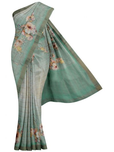 Nadhira Exclusive Embroidered Semi Jute Saree - MKD0007285