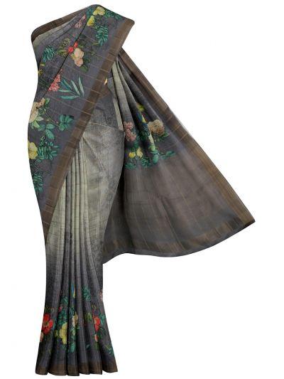 Nadhira Exclusive Embroidered Semi Jute Saree - MKD0007287(2)
