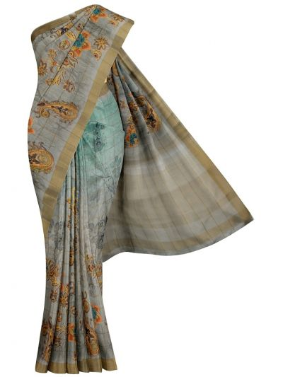 Nadhira Exclusive Embroidered Semi Jute Saree - MKD0007291