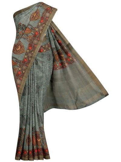 Nadhira Exclusive Embroidered Semi Jute Saree - MKD0007294