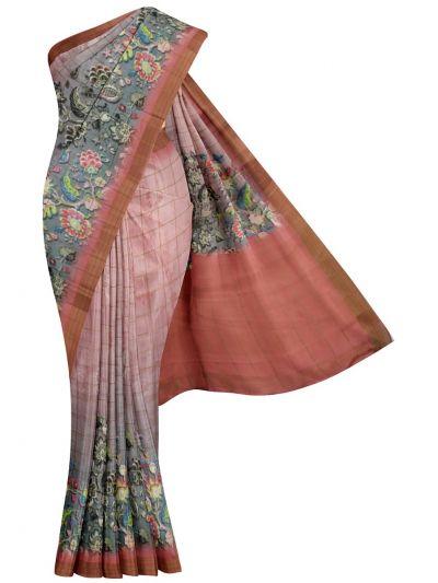 Nadhira Exclusive Embroidered Semi Jute Saree - MKD0007299