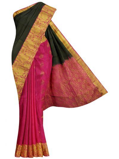 Bairavi Traditional Half & Half Gift Art Silk Saree - MKD0216612