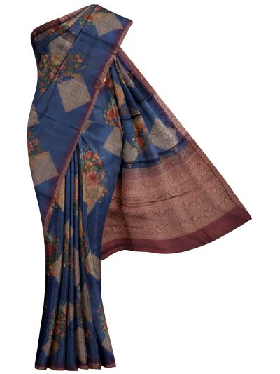 MLB1336458 - Printed Tussar Silk Saree