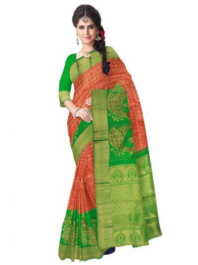 Vivaha Kanchipuram  Multicolor Wedding Sillk Saree