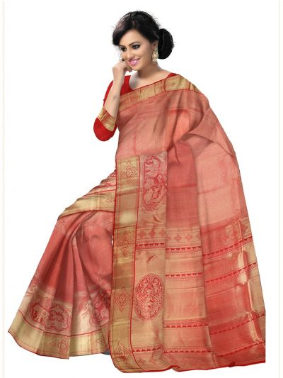 Vivaha Kanchipuram Red Wedding Sillk Saree