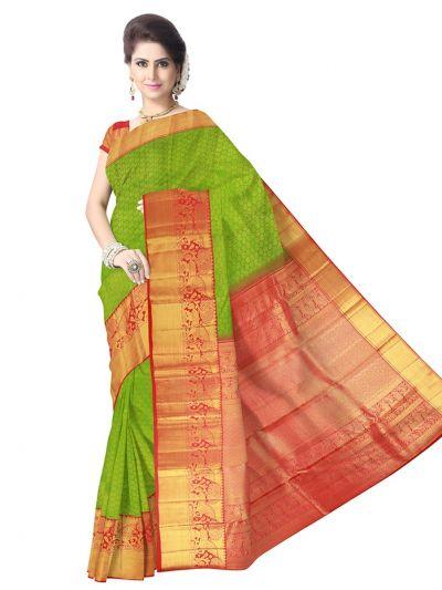 Vivaha Kanchipuram Green Wedding Sillk Saree