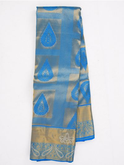 MHC1933613-Vivaha Wedding Stone work Silk Saree