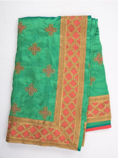 Sahithyam Exclusive Stone Work Sana Silk With Patch Work Saree - MIC4193202