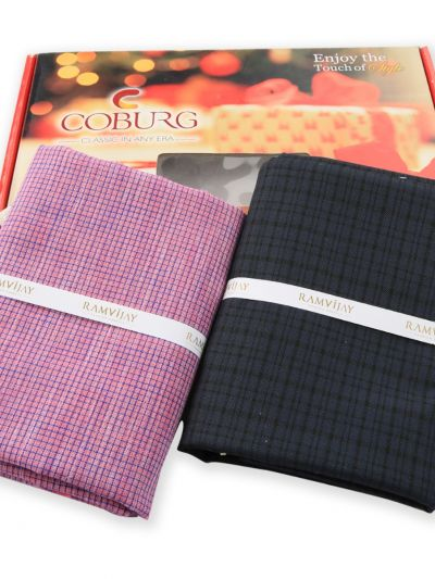 COBURG Shirt & Trouser Poly Viscose Mixing Fabric Set - MFB4794227