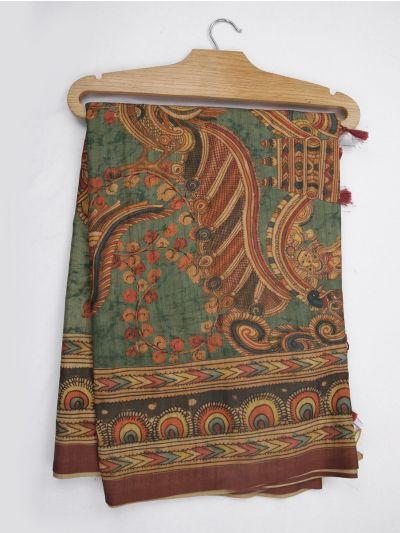 Kathana Fancy Digital Printed Semi Jute Saree - MIA3029331