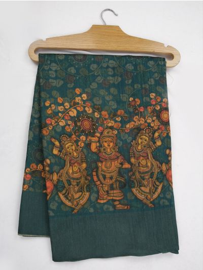 Kathana Fancy Digital Printed Semi Jute Saree - MIA3029332