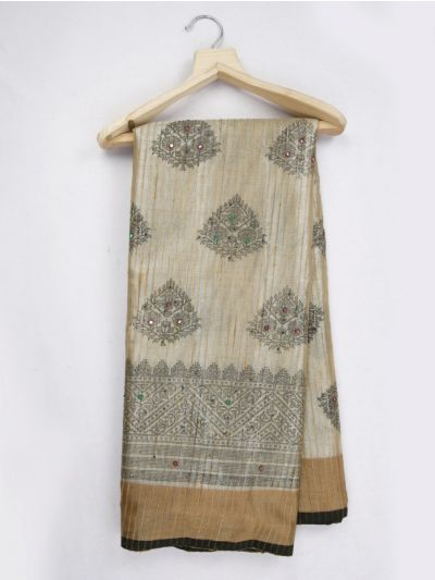 Kathana Fancy Embroidered Raw Silk Saree - MJC7855308