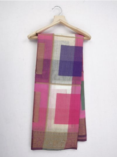 Kathana Fancy Mercerized Cotton Saree - MKB9153431