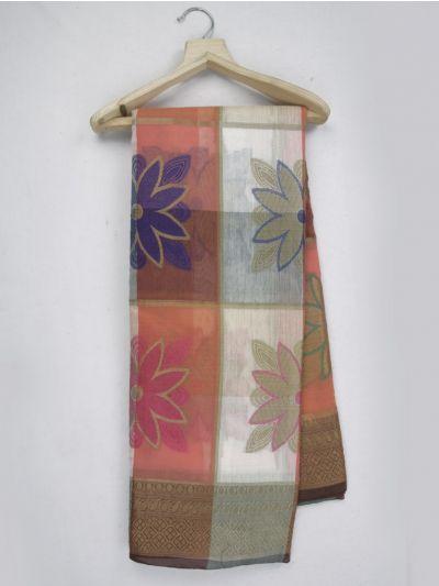 Kathana Fancy Mercerized Cotton Saree - MKB9153436