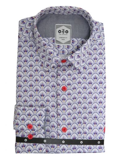 ZF Men's Readymade Casual Cotton Shirt - MKD0276539