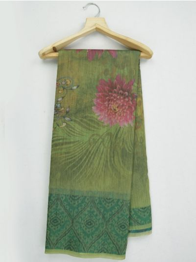 MKC9578674-Kathana Fancy Semi Jute Saree