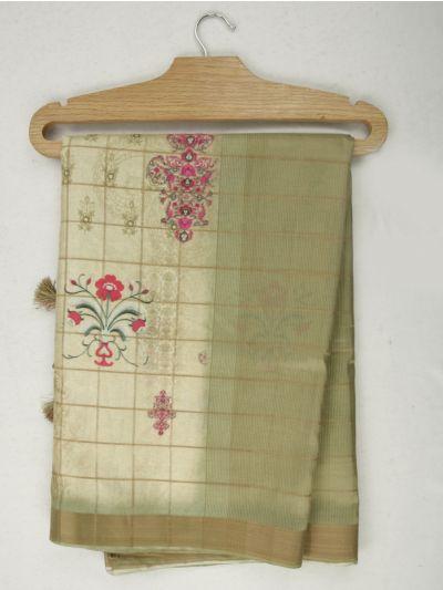Nadhira Exclusive Embroidered Semi Jute Saree - MKD0007280