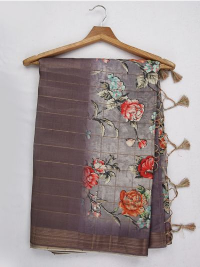 Nadhira Exclusive Embroidered Semi Jute Saree - MKD0007288(2)