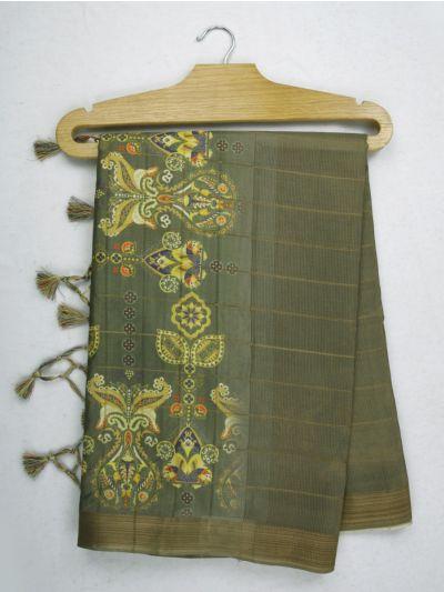Nadhira Exclusive Embroidered Semi Jute Saree - MKD0007296