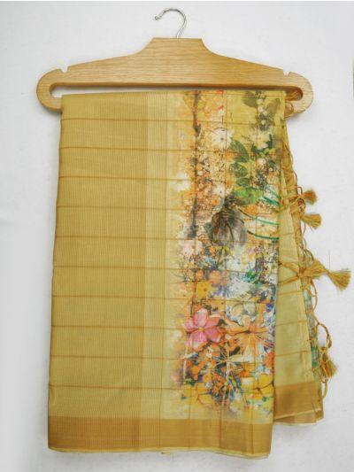 Nadhira Exclusive Embroidered Semi Jute Saree - MKD0007297