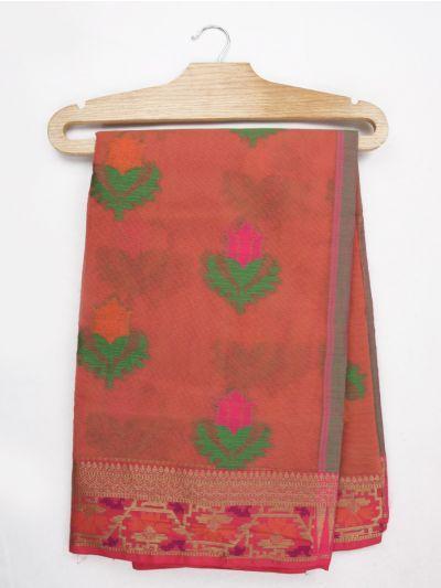 Jalathi Fancy Manipuri Netted Cotton Saree - MJB7327990