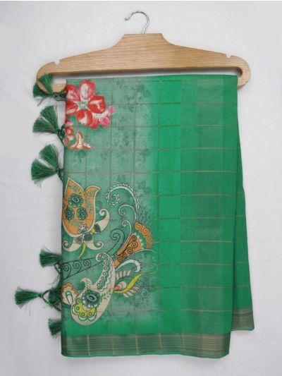 Nadhira Exclusive Embroidered Semi Jute Saree - MKD0007302