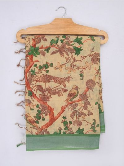 MIB3584403-Khyathi Linen Cotton Saree