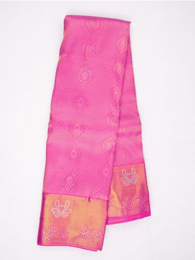 MHC1933630-Vivaha Stonework Wedding Silk Saree