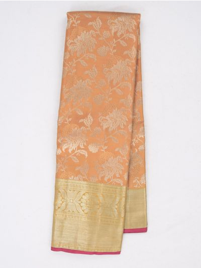 Vivaha Exclusive Bridal Zari Border and Pallu Handloom Kanchipuram Silk Saree - MID4733877