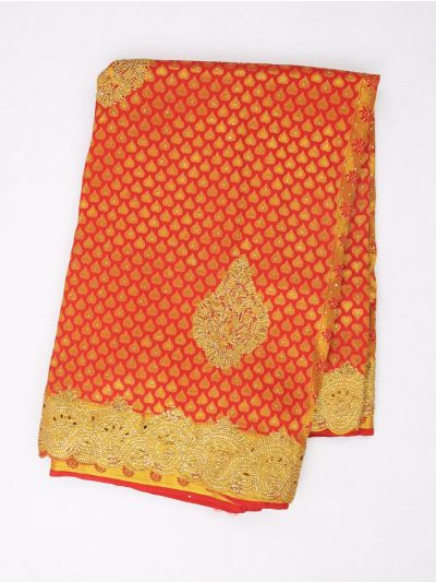 Vivaha Exclusive Wedding Stone Work Silk Saree - MIB3432373