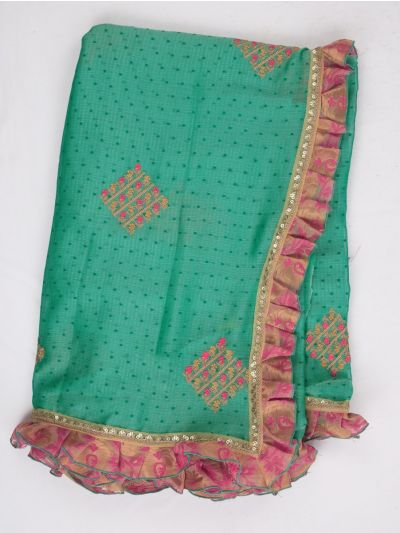 MHD2250169-Khyathi Fancy Georgette Saree with Readymade Blouse