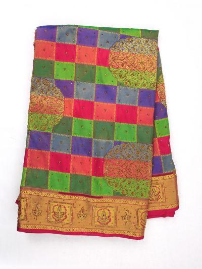 MIA2929857-Vivaha Wedding Stonework Silk Saree with Stonework Blouse