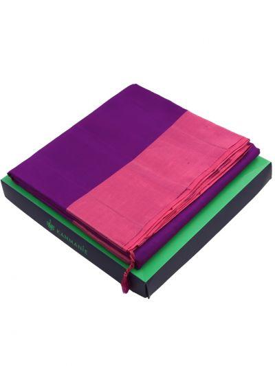 Kanmanie 5 Inch Border Soft Silk Saree