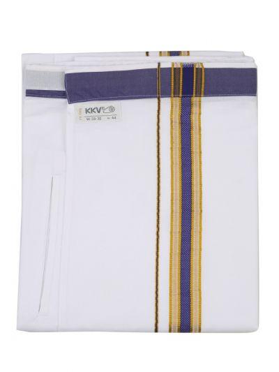 KKV Velcro Men Cotton Dhoti - NJA8913540