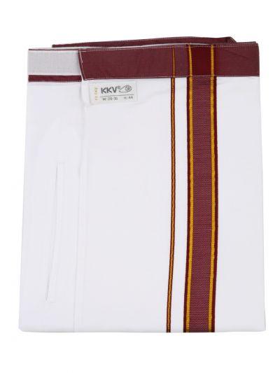 KKV Velcro Men Cotton Dhoti - NJA8913564