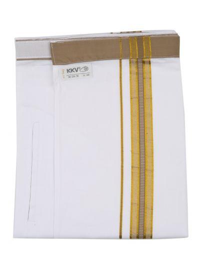KKV Velcro Men Cotton Dhoti - NJA8913566