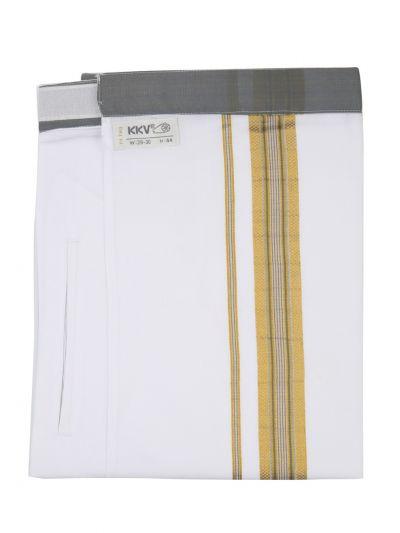 KKV Velcro Men Cotton Dhoti - NJA8913567