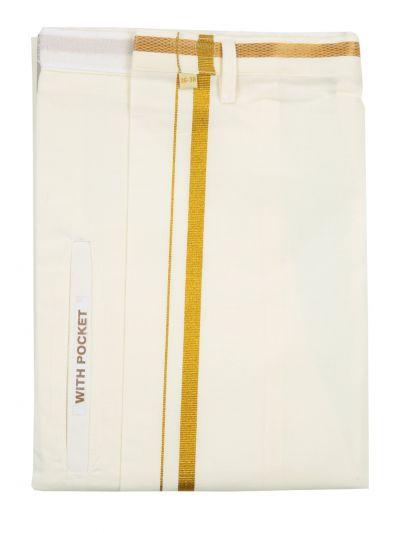 KKV Velcro Men Cotton Dhoti - NCE0566708