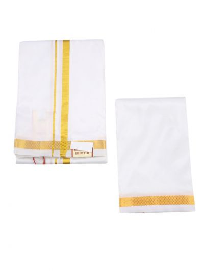 Vivaha Silk Dhoti, and Angavastram Set - NHA4219006