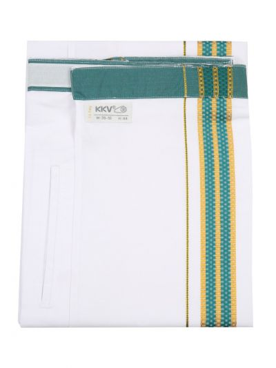 KKV Velcro Men Cotton Dhoti - NFA3568316