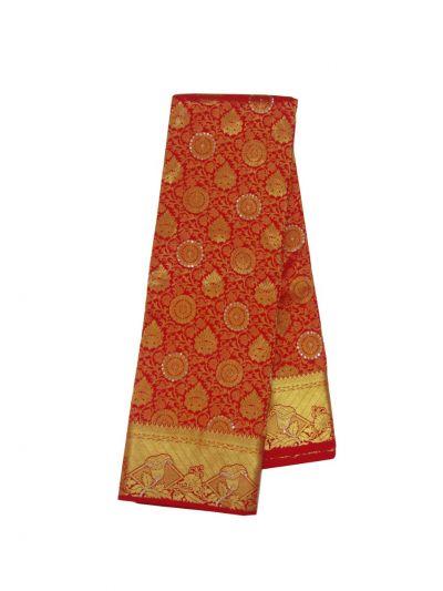 Traditional Silk Stone Work Saree - EKM -  NHB4734155