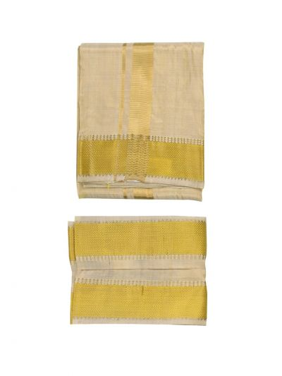 Vivaha Goddess Fancy Border Silk Dhoti and Angavastram - NFC5006166