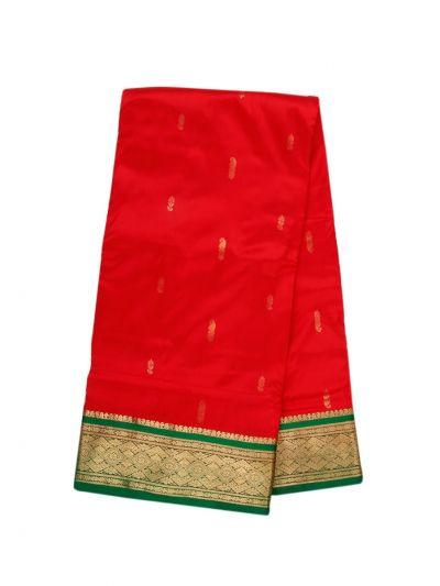 Handloom Pure Silk Nine Yards Saree - OAB1206029