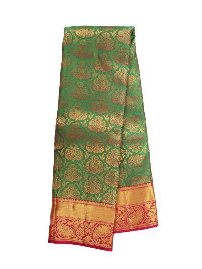 Vivaha Kanjipuram Green Bridal Silk Saree - NJB9935391