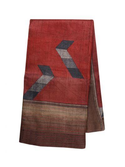 Fancy Pure Tussar Silk Printed Saree - OAA0224354