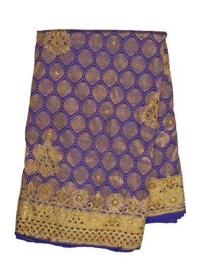 Traditional Stone Work Silk Saree - NKA2266348