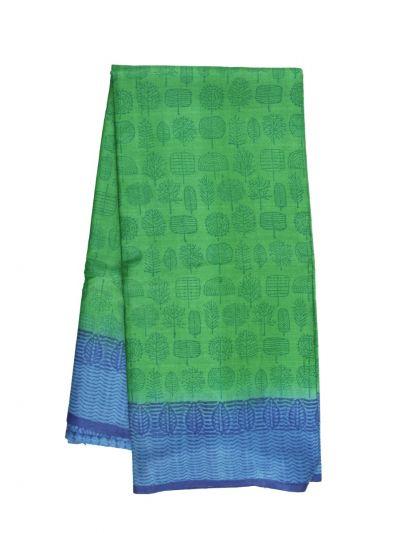 Fancy Pure Tussar Silk Printed Saree - OFA7358951